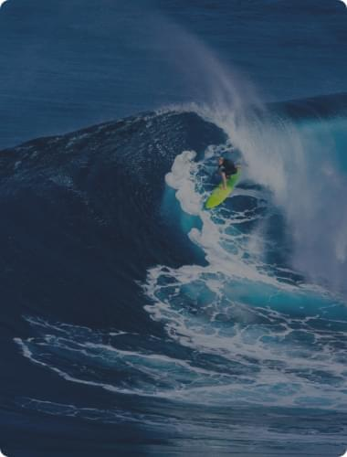 surfer in a big wave