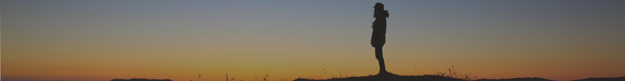 man and sunset